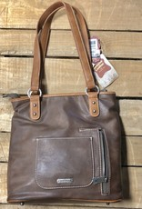 "PURSE MONTANA WEST TRINITY RANCH HAIR-ON COWHIDE CONCEALED CARRY COFFEE 12.5"" X 12.5"""