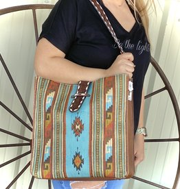 TOTE PURSE SOUTH WESTERN CC CONCEALED CARRY BUCK STITCH BELT STRAP