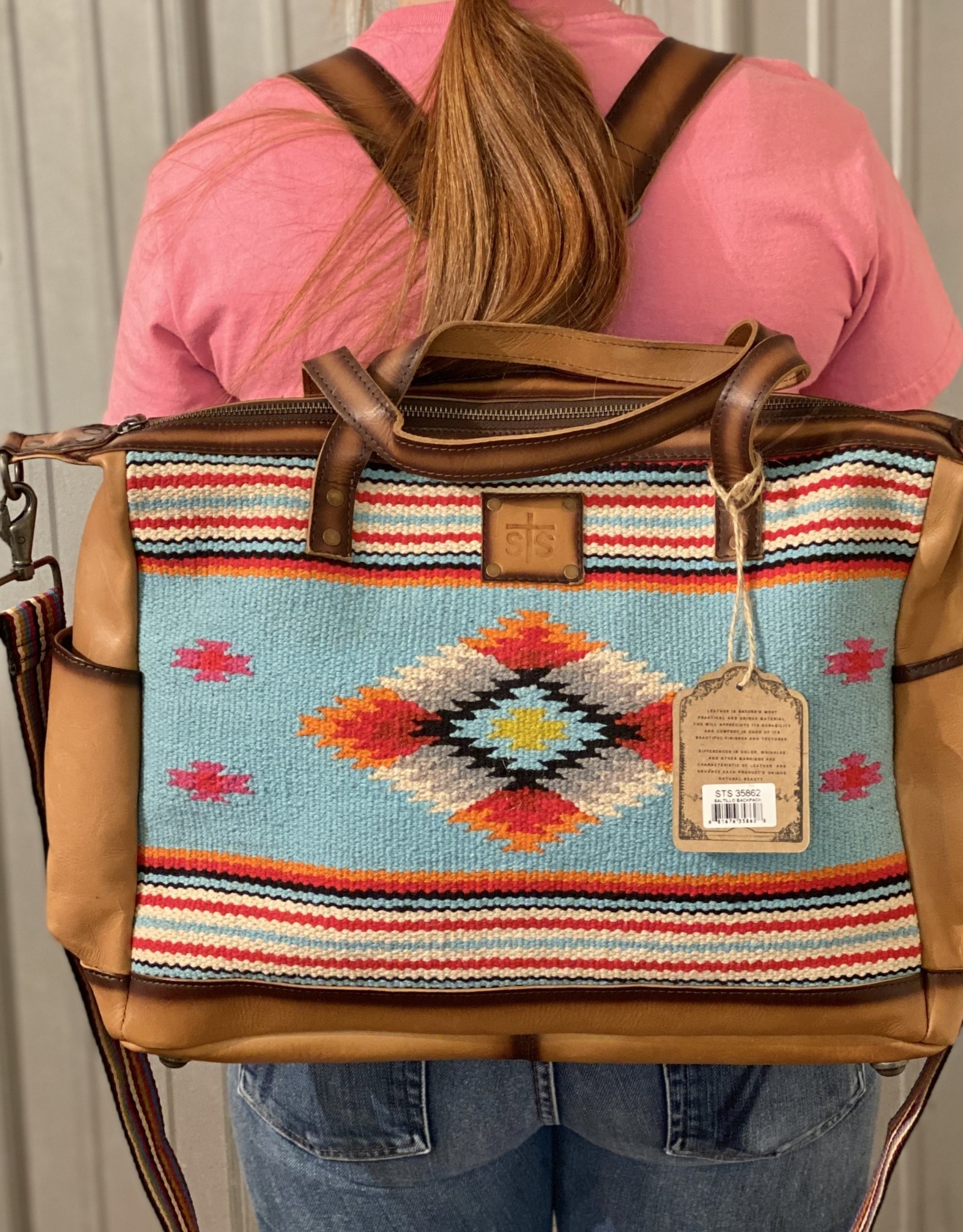 STS TOTE PURSE SALTILLO BLANKET BACKPACK CC