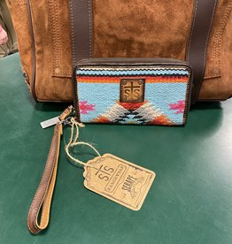 STS WALLET SALTILLO ROSA REMOVEABLE WRISTLET
