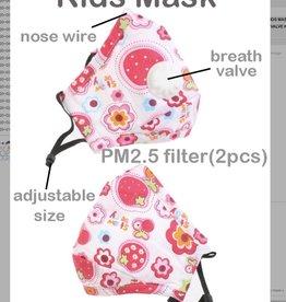 FACE MASK COTTON EZ BREATHE RESPIRATOR W/  FILTER POCKET FLOWER CHILD 2-6YR