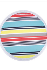 "TOWEL MAT BEACH ROUND SERAPE 56"" 100% COTTON"