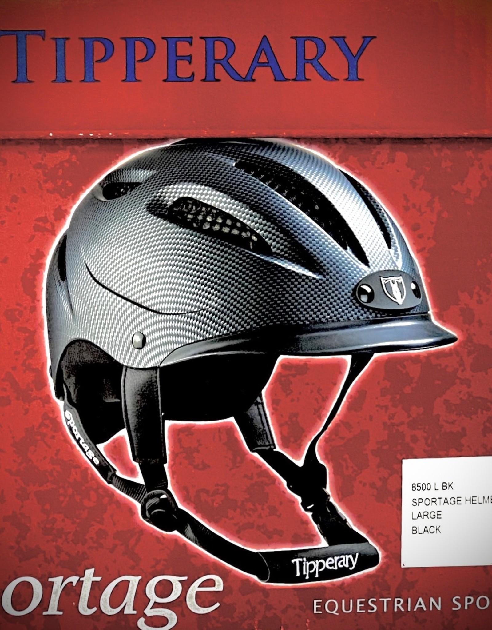 HELMET TIPPERARY SPORTAGE BLACK 8500