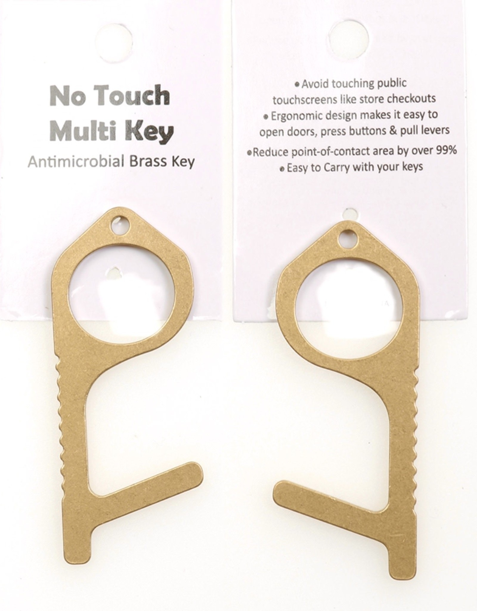 TOOL NO TOUCH MULTI KEY CHAIN  ANTIMICROBIAL BRASS KEY OPEN DOORS PUSH BUTTONS