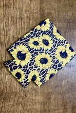 KOOZIE LEOPARD SUNFLOWER DESIGN DRINK SLEEVE