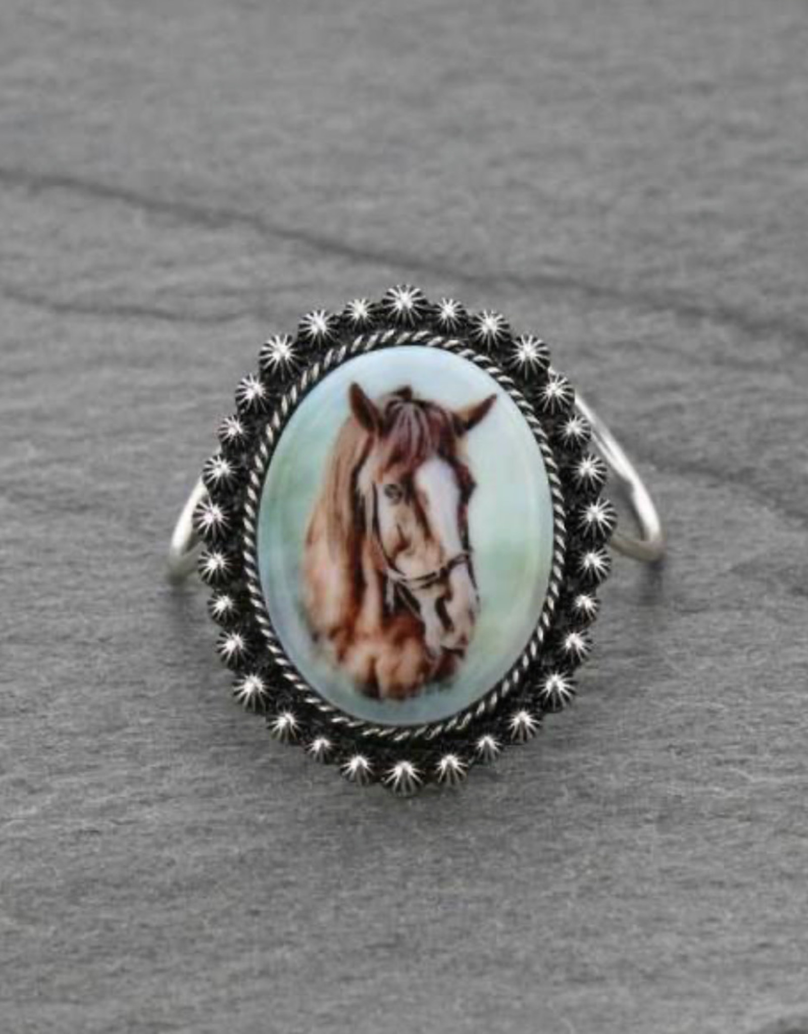 WESTERN HORSE SCARF SLIDE CONCHO