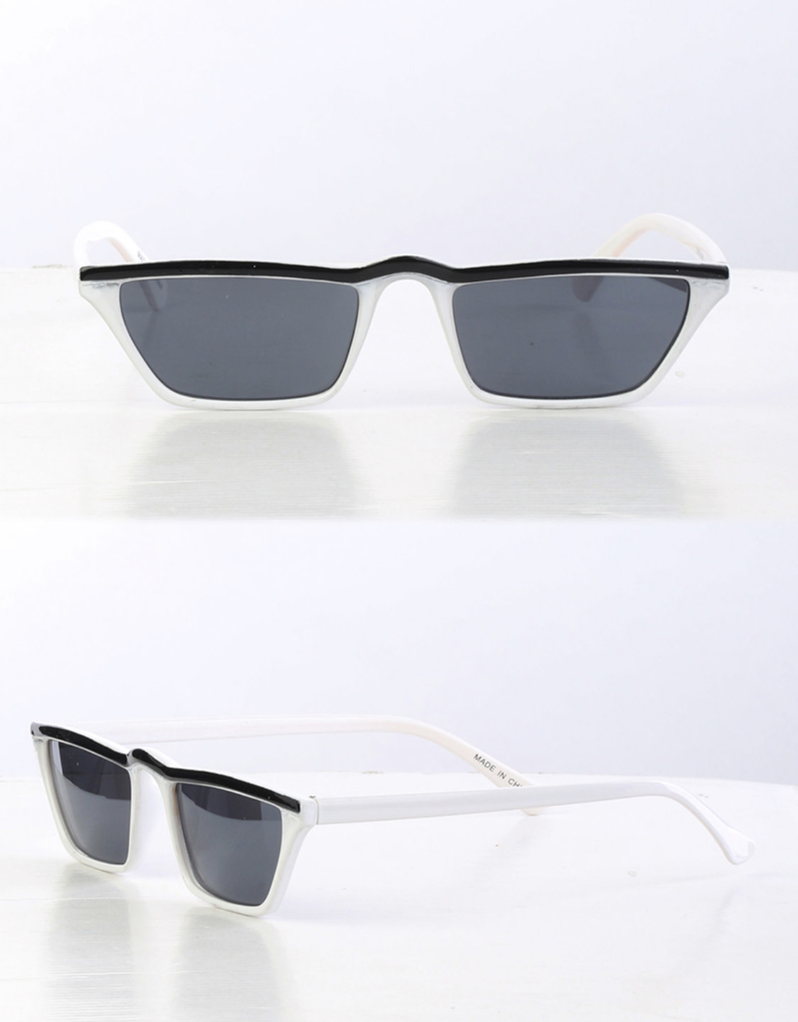SUNGLASSES TINY WHITE/BLACK