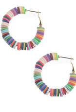 EARRINGS MULTI-COLOR RUBBER