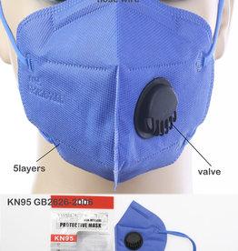 FACE MASK KN95 DISPOSABLE EZ BREATHE RESPIRATOR ROYAL BLUE
