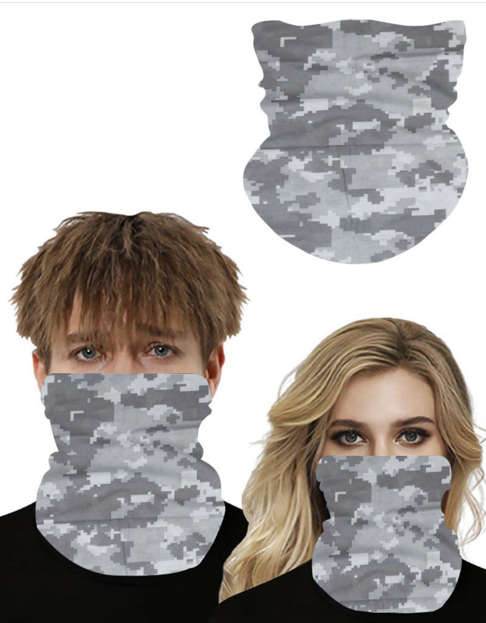 GAITOR COOLING MOISTURE WICK DIGITAL CAMO GRAY MASK UNISEX