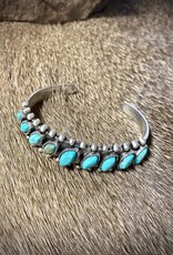 BRACELET NATURAL TILTED TURQ CUFF STONE