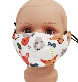 FACE MASK COTTON EZ BREATHE RESPIRATOR W/ FILTER POCKET CHILD BEAR BUNNY