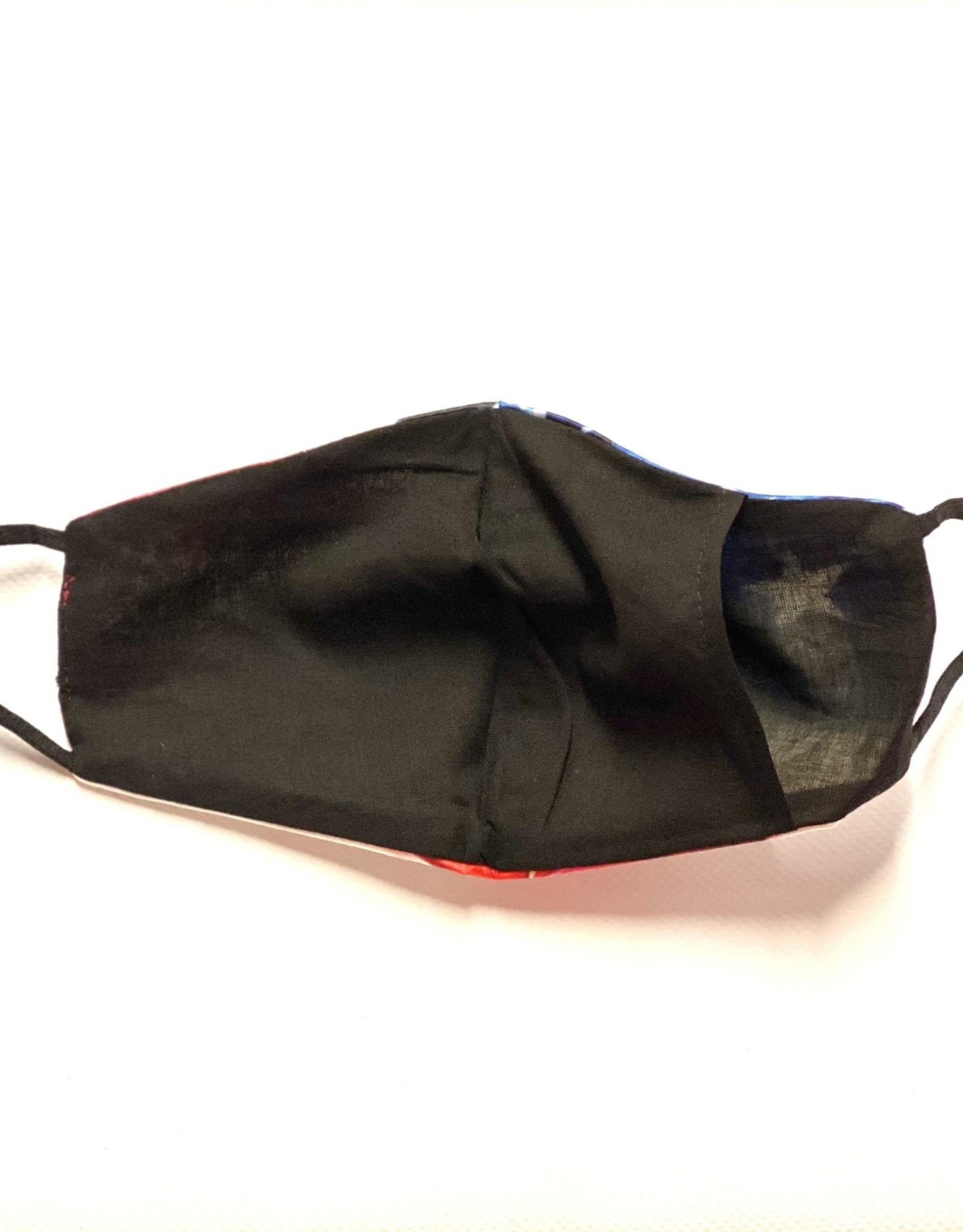 FACE MASK SATIN CLOTH W/ COTTON LINER FILTER POCKET WESTERN BLANKET PRINT
