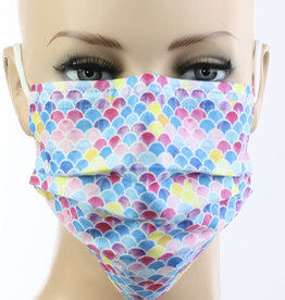 FACE MASK 10 PACK DISPOSABLE SCALLOP MULTI 3 LAYER