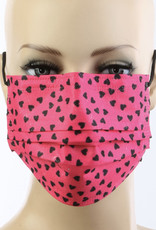 FACE MASK 10 PACK DISPOSABLE CORAL HEARTS 3 LAYER