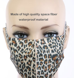 FACE MASK CLOTH CHEETAH WASHABLE WATERPROOF