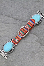 APPLE WATCH BAND OVAL SERAPE TURQ