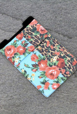 PHONE POCKET STRETCH FLORAL/LEOPARD