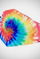 FACE MASK SATIN CLOTH W/ COTTON LINER FILTER POCKET WESTERN TIE DYE