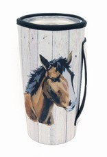 DRINK SLEEVE KOOZIE 20 OZ TUMBLER BARN WOOD HORSE HEAD