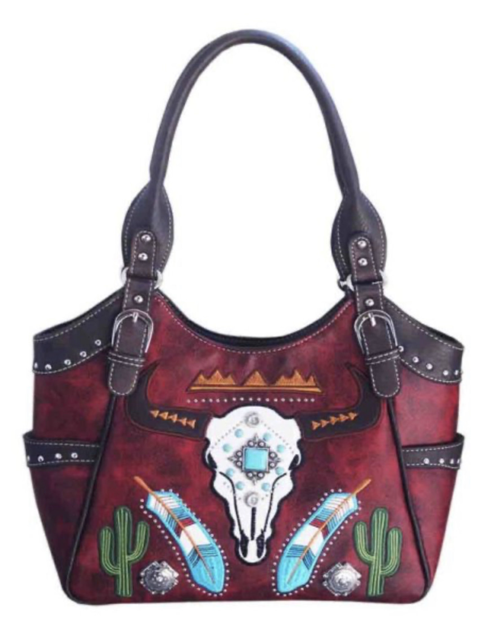 PURSE CC RED SKULL TURQ CONCEALED CARRY