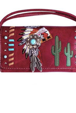 WALLET HEADRESS RED WRISTLET