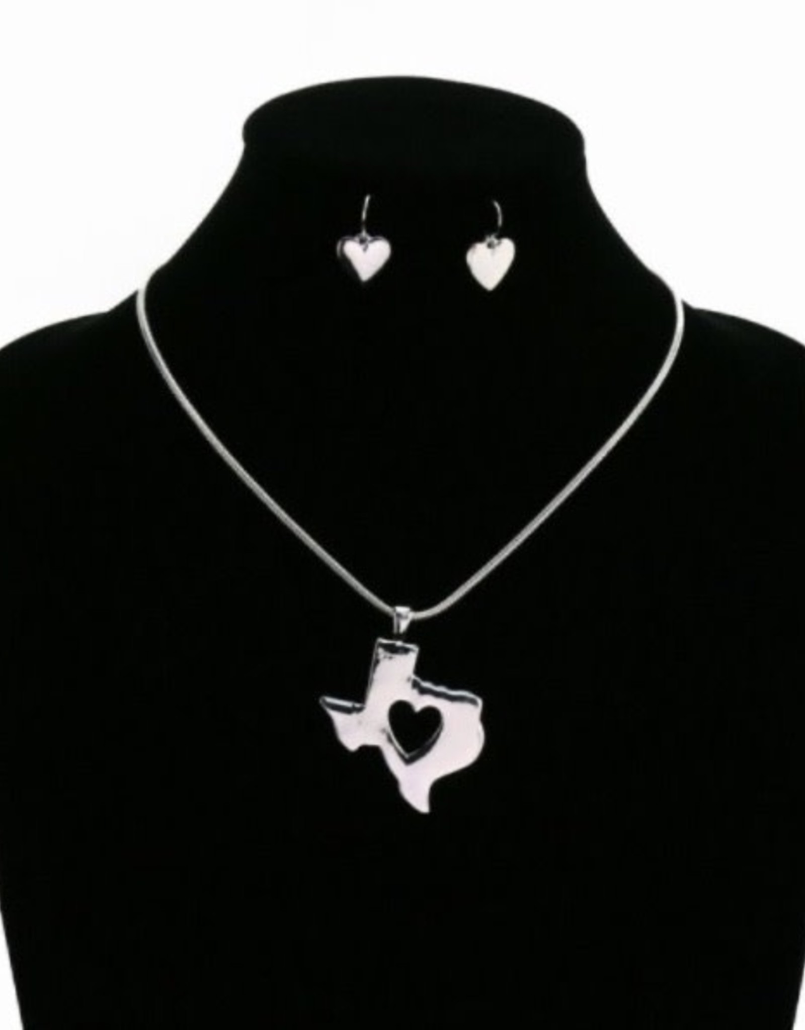 NECKLACE SET TEXAS STATE MAP