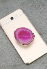 PHONE GRIP AGATE STONE PINK