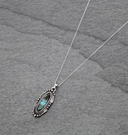NECKLACE NATURAL STONE STERLING SILVER  CHAIN 37-732015 STONES COLOR VARIES
