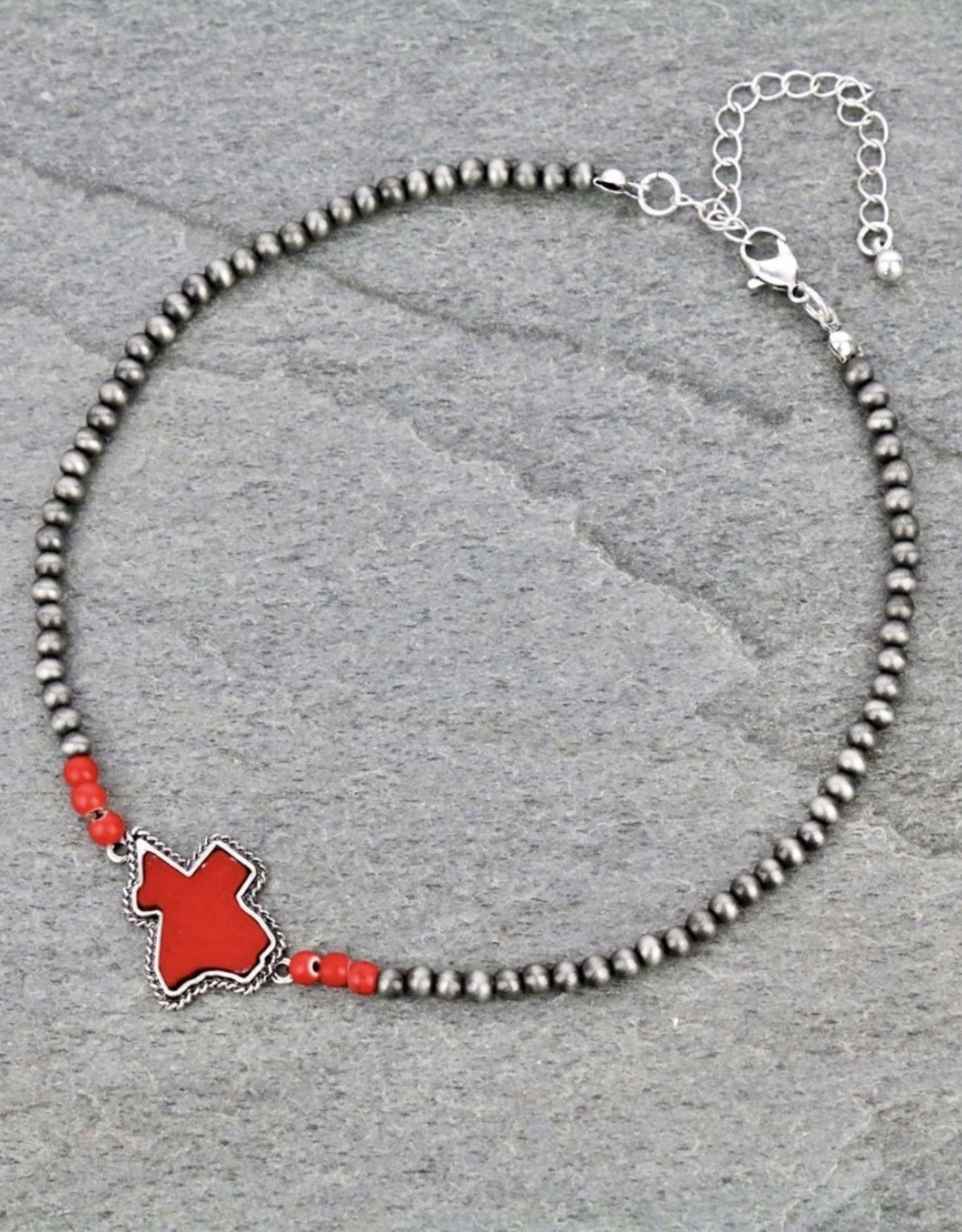 NECKLACE CHOKER NAVAJO STONE TEXAS MAP