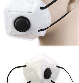 FACE MASK KN95 DISPOSABLE EZ BREATHE RESPIRATOR WHITE