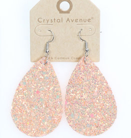 EARRING TEAR DROP IRIDESCENT GLITTER