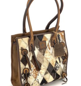 "PURSE XL TOTE DIAMOND COWHIDE STS 36733 14""X7""X14"" CC POCKET"