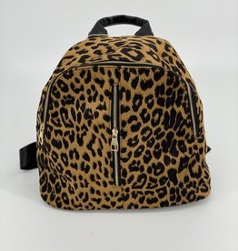 BACKPACK LEOPARD PATTERN PRINT T-ZIP