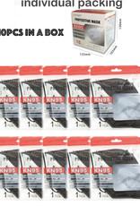 FACE MASK KN95 DISPOSABLE EZ BREATHE RESPIRATOR BLACK BOX 10