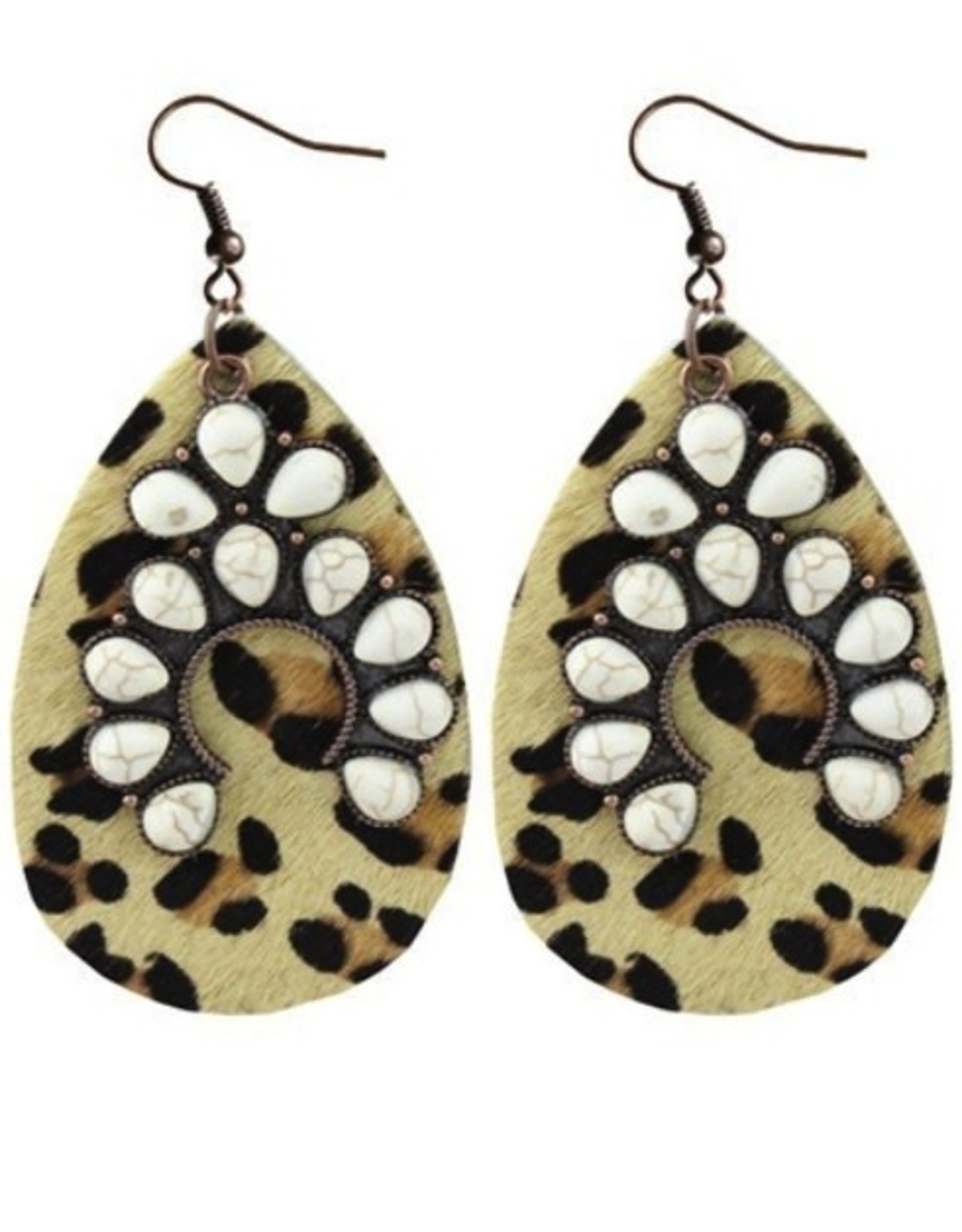 EARRINGS IVORY AND LEO LEOPARD 2.5 INCH