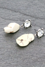 EARRINGS WESTERN GLASS STONE STUD