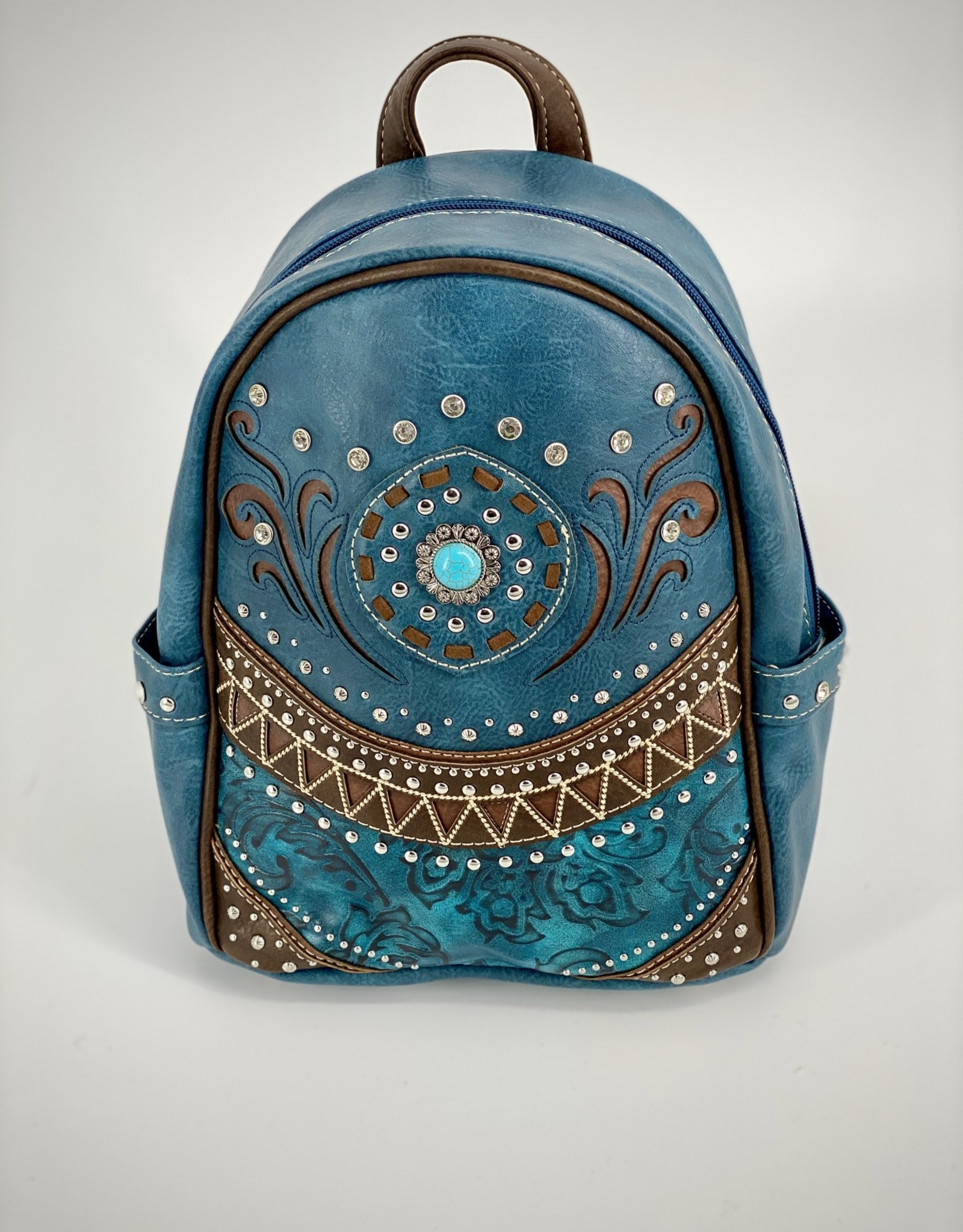 BACKPACK WESTERN STYLE TURQ ACCENT