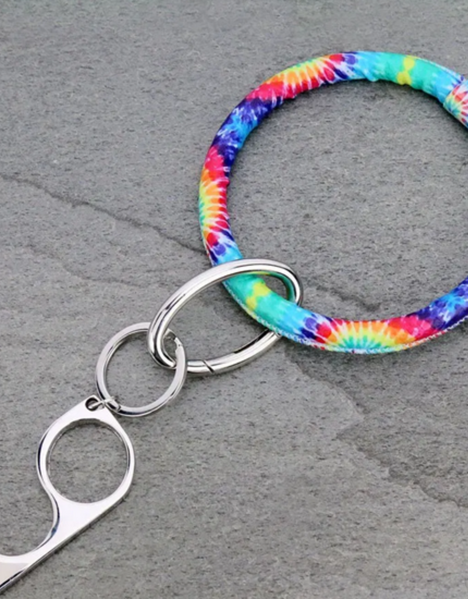 KEY RING TIE-DYE BANGLE CONTACTLESS/ DOOR OPENER SAFETY KEY
