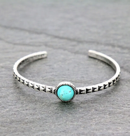 BRACELET AZTEC CUFF WITH NATURAL TURQ STONE