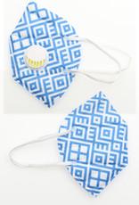 FACE MASK KN95 DISPOSABLE EZ BREATHE RESPIRATOR DIAMOND BLUE WHITE