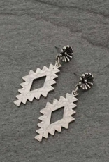 EARRINGS WESTERN AZTEC DESIGN POST