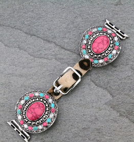 APPLE WATCH BAND WITH PINK STONE