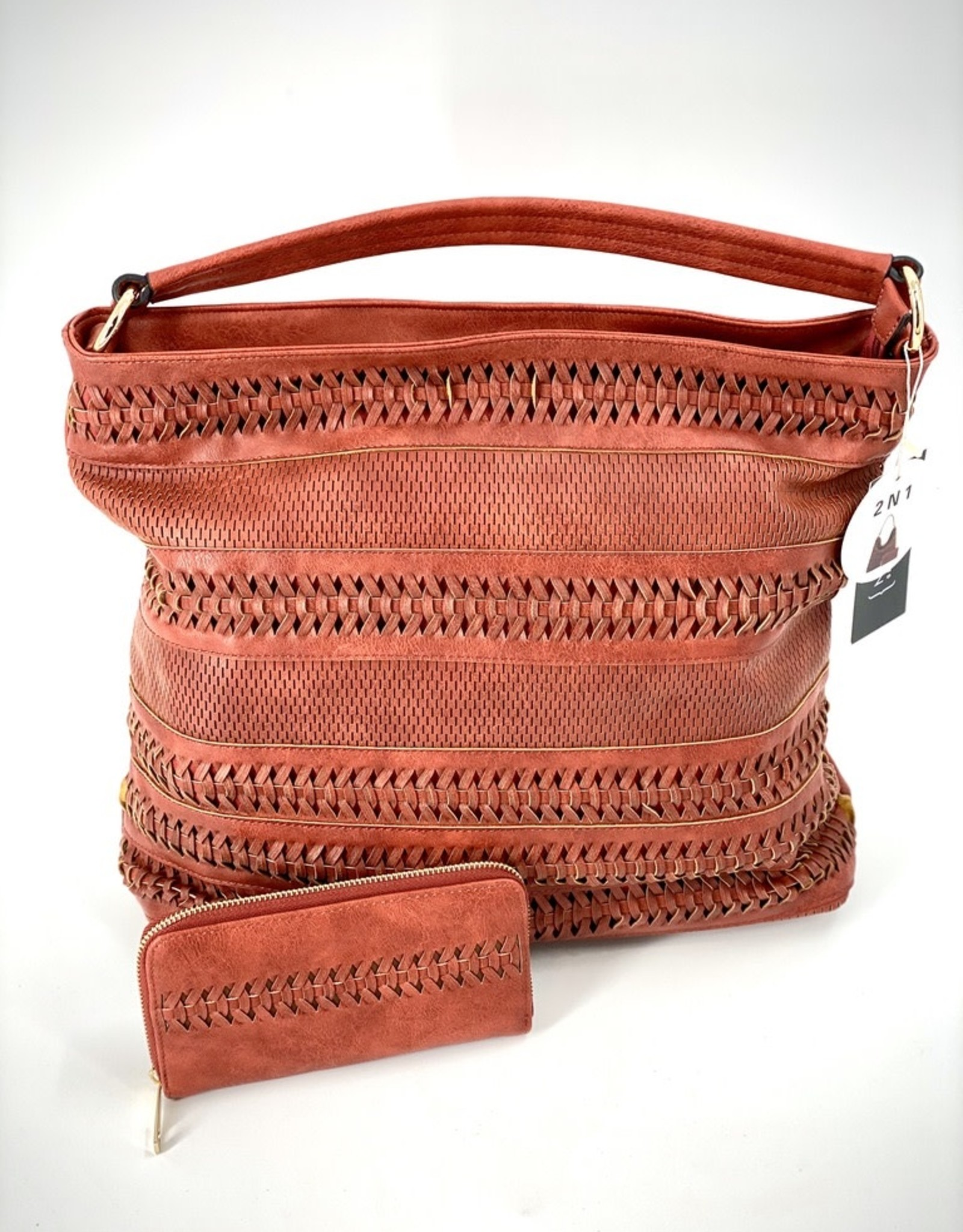 PURSE TWO IN ONE TOTE VEGAN LEATHER
