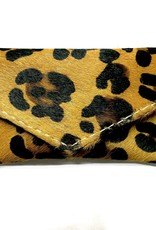 WALLET COIN CARD LEATHER HAIR CHEETAH PURSE