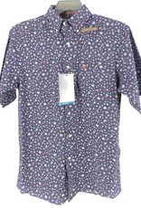 ARIAT MNS SHIRT SS ARIAT WRINKLE FREE CHARCOAL FLORAL