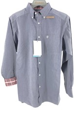 MNS SHIRT ARIAT LS WRINKLE FREE OXFORD GRAY 10035025