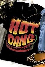 WMS TEE HOT DANG WESTERN FLAME BLACK