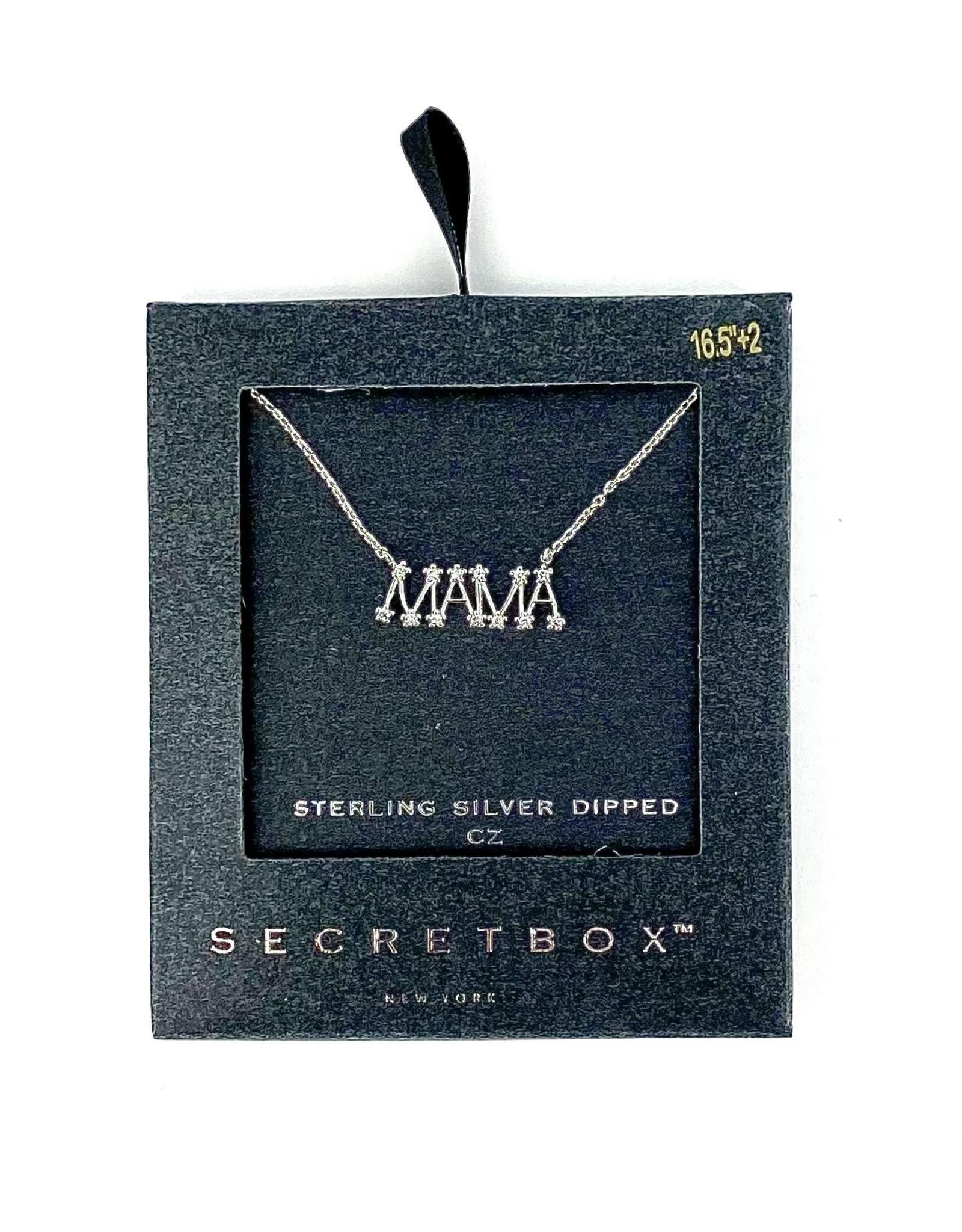NECKLACE MOM OR MAMA GOLD DIPPED CZ