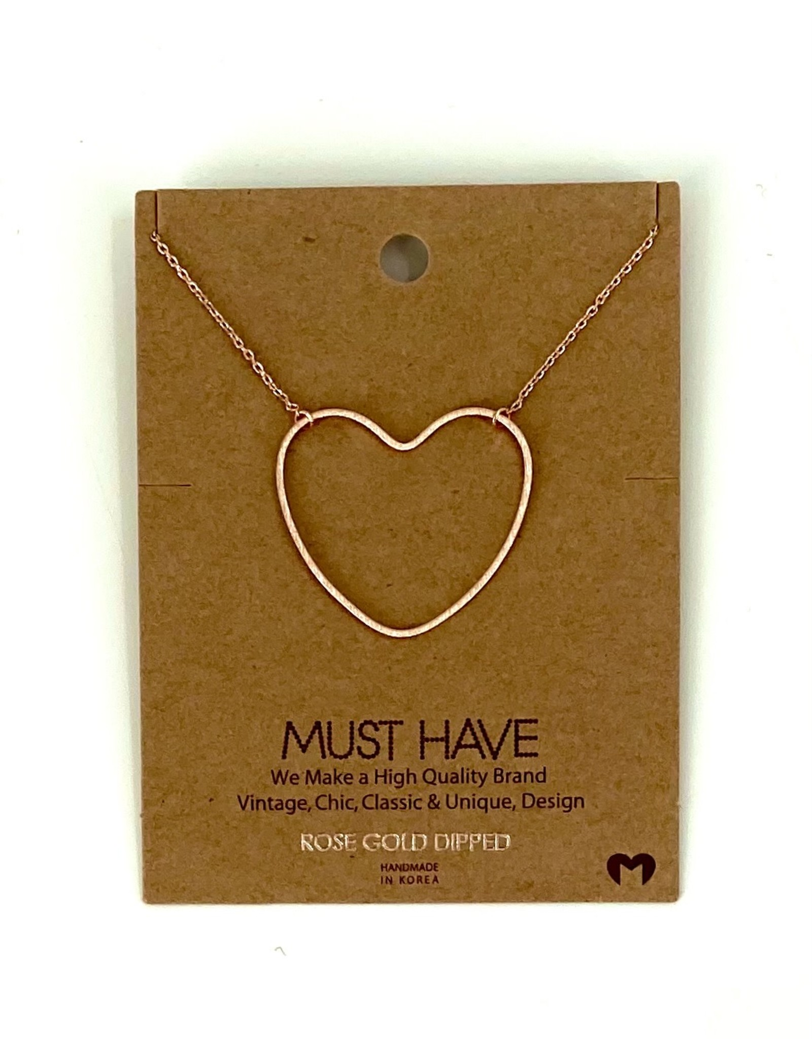 NECKLACE HEART ROSE GOLD DIPPED